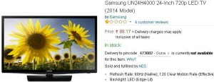 (Loot) Amazon- Buy Samsung UN24H4000 24-Inch 720p LED TV (2014 Model) at just Rs 89 only