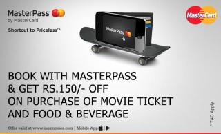 Inox Movies Loot - Get Rs.150 off on transaction Off 150 Or More using Master Pass