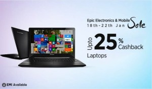 (Suggestions Added) Paytm Epic Electronics Sale – Buy Laptops at discounted prices + flat 20% extra cashback