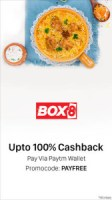 Paytm Loot - Get upto 100% Cashback on Minimum Order of Rs 200 or Above on Box8 (New User)