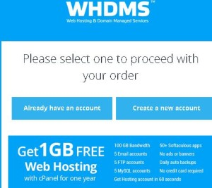 WHDMS Loot – Get 1 GB Free Web Hosting with cPanel for one year