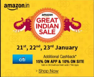(Live at 12 AM) Amazon Great Indian Sale – Amazing offers and discounts from Jan 21 – Jan 23
