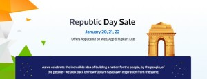 (Live Now) Flipkart Republic Day Sale- Get great discounts + Bank Offers (20th-22nd Jan)