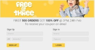 Firstcry Free @ Three– Get First 500 orders worth Rs.1000 Absolutely free2