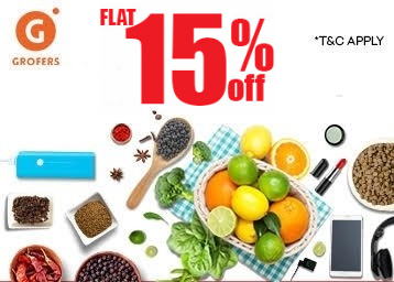 grofers 15% off on app exclusive coupon