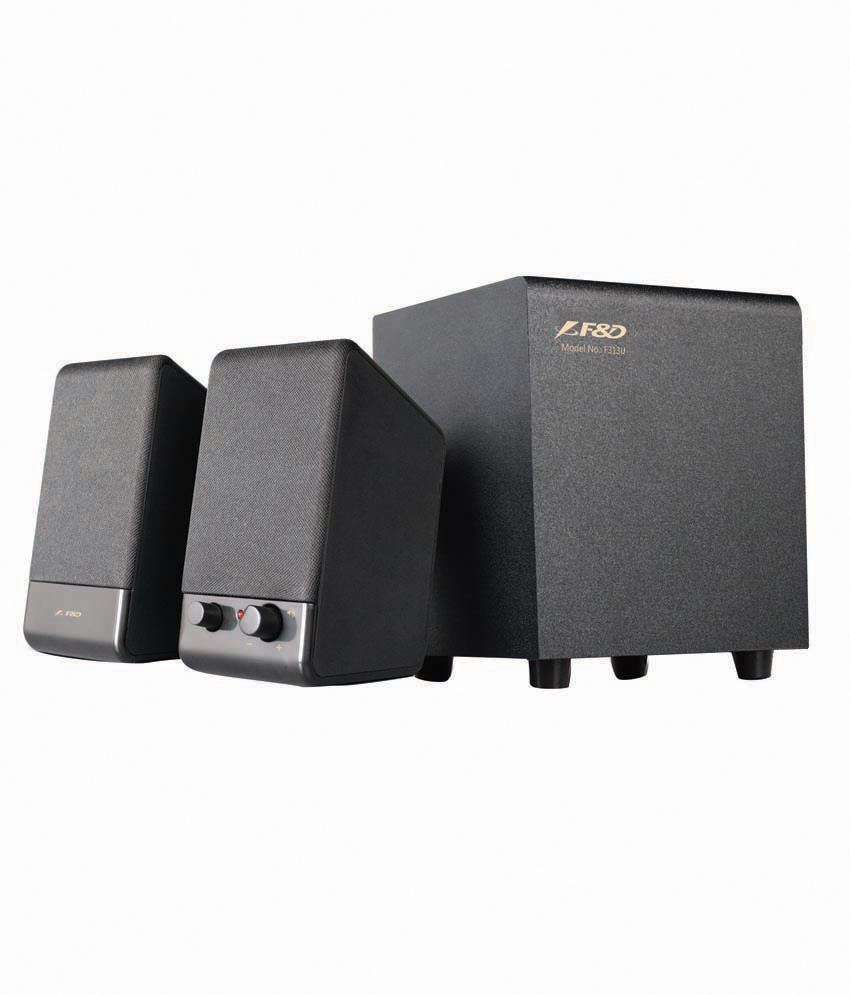 F&D F313U 2.1 Desktop Speakers (USB powered) - Black Rs 870 only snapdeal