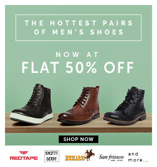abof flat 50 off on branded footwear + upto extra Rs 400 discount using coupons