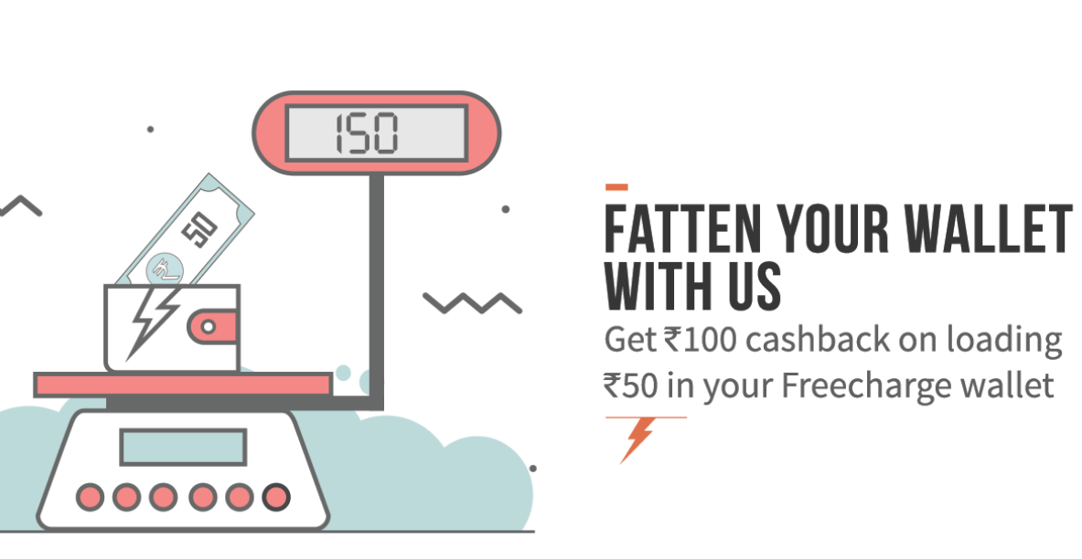 freecharge add Rs 50 to wallet and get Rs 100 cashback new users