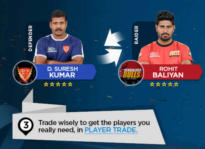 khel kabaddi trade the players wisely to get badges