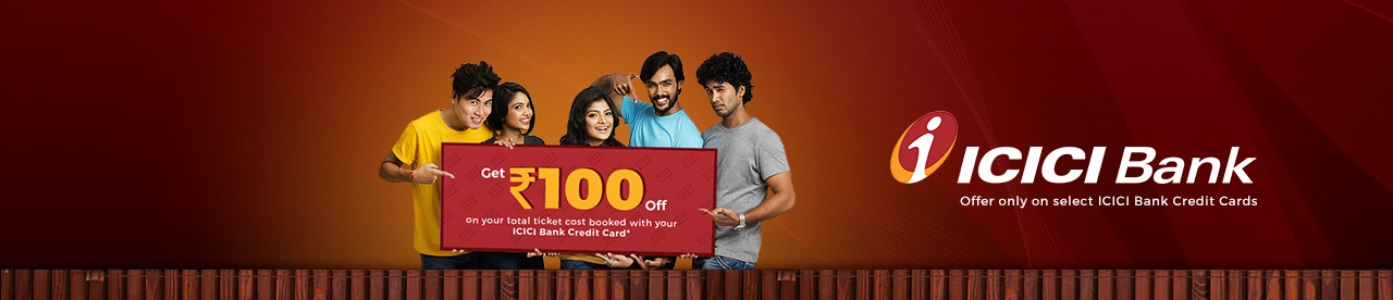 Bookmyshow :- Get Rs.100 off on Booking Tickets (ICICI Bank Credit Card)