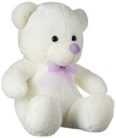 Dimpy Stuff Bear with Ribbon, Cream (33 cm)