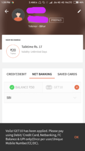 FreeCharge – Proof Cashback on Recharge & Bill Payment
