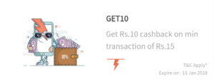 FreeCharge – Rs 10 Cashback on Recharge & Bill Payment