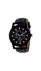 PaytmMall- Buy Kajaru KJR-9 Round Dial Black Leather Strap Men Quartz Watch for Men at Rs 89