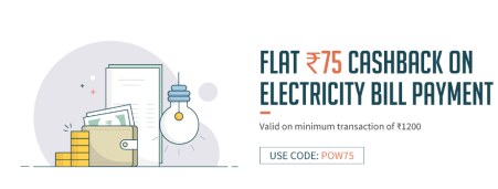 freecharge electricity flat rs.75 cb