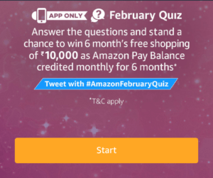 Amazon February Quiz Answer Today