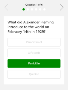 Answers of Amazon February Quiz