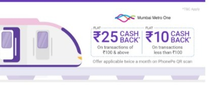 phonepe mumbai metro offer