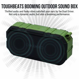 Amaozn - Buy Chkokko Toughbeats TB406 Waterproof Bluetooth Wireless Portable Speakers with Dual Drivers (Green) at Rs 1099 only