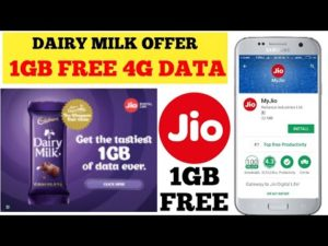 "Jio- Get 1 GB 4G Data for Free (All Users) after Upload Pic of ""Cadbury Dairy Milk"""