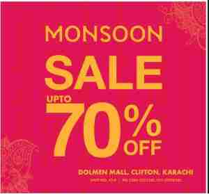 Dolmen Mall Monsoon Sale Upto 70% OFF