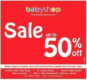 Babyshop Sale Upto 50 % Off
