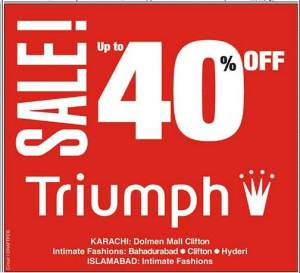 SALES! upto 40% OFF Triumph