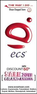 ECS Sale 2013 up to 60% Discount at Ehsan Chappal Store on Shoes & Handbags