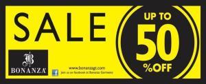 Bonanza Garments Sale 2013 up to 50% Off