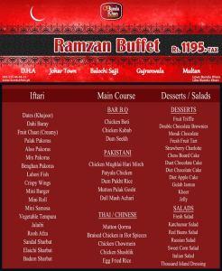 Bundu Khan Iftar Deal 2013 Ramadan Buffet