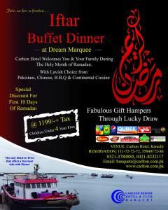 Carlton Hotel Karachi Iftar Buffet Deal 2013
