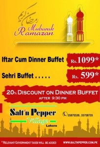 Salt n Pepper Village Lahore Iftar Deal 2013 Sehri Buffet