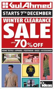 Gul Ahmed Ideas Winter Sale December 2013