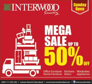 Interwood Sale May 2014 in Lahore Islamabad Karachi