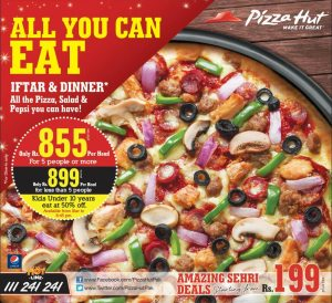 Pizza Hut Iftar Deal 2014 Ramadan in Pakistan