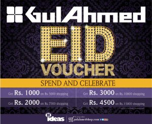 Gul Ahmed Ideas Eid Voucher 2014 Discount