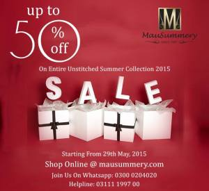 Mausummery Summer Sale 2015