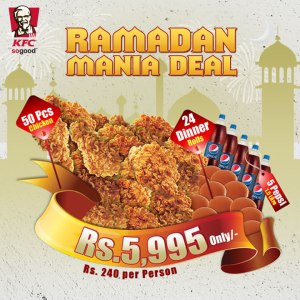 KFC Pakistan Ramadan Mania Deal 2015