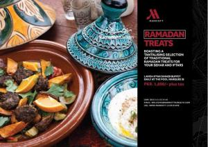 Marriott Hotel Karachi Iftar / Dinner Buffet Deal 2015