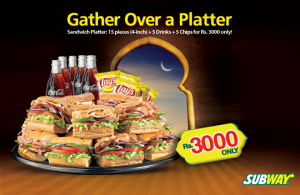 Subway Platter Ramadan Deal 2015 for Iftar