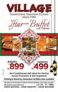 Village Restaurant Karachi Iftar Deal 2015