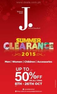 Junaid Jamshed Sale October 2015 Summer Clearance