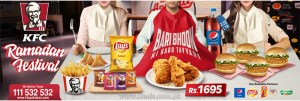 KFC Ramadan Festival Deal 2018 Iftar Offer Pakistan