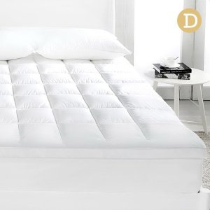 Giselle DOUBLE Mattress Topper Duck Feather Down 1000GSM Pillowtop Topper