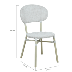 Skyler Style-savvy Outdoor Dining Chair Set of Two Natural