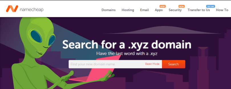 namecheap xyz domain