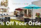 abba patio 15% off