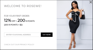 roswe welcome offer