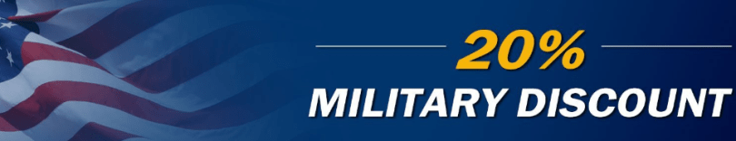 20% military discount