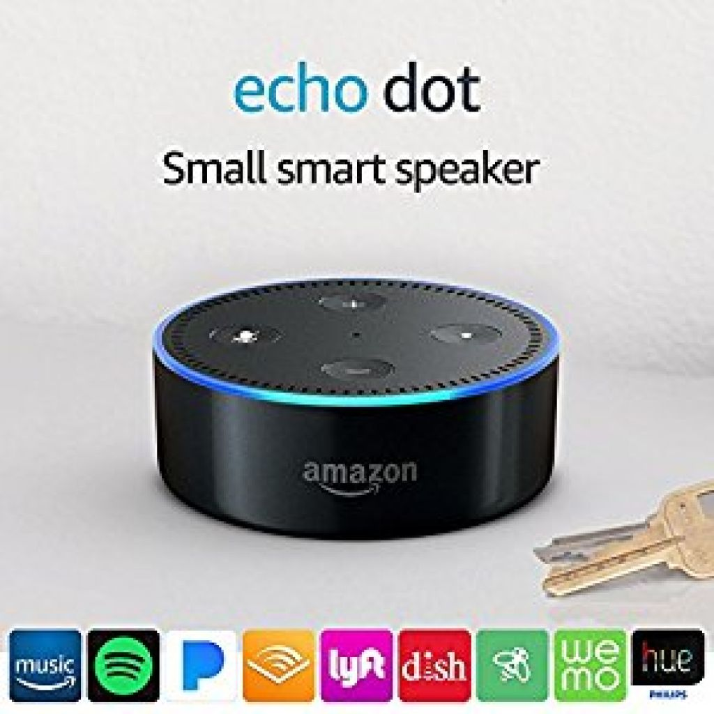 Echo Dot (2nd Generation) | Alexa-enabled Bluetooth Speaker - Black